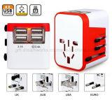 4 spine universali dell'impulso di potere del USB della spina di adattatore di corsa del mondo dell'adattatore di corsa del USB AC/DC Protectorus/UK/Au/EU