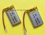 230mAh recarregável Bateria de polímero de lítio ionizado de 3,7 V para câmera GPS Bluetooth Headset