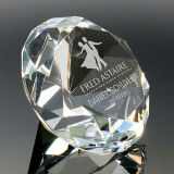 диамант подарков венчания 50mm 60mm кристаллический, гравировка стеклянного диаманта изготовленный на заказ