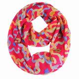 100 % polyester imprimé 75D en mousseline de femmes à l'infini foulard (YKY1117)
