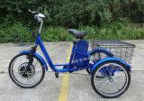 安い500W電気無効三輪車、鉛酸蓄電池が付いている3つの車輪の電気スクーター