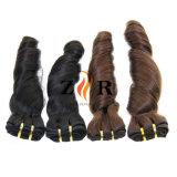 Venta caliente peruano de tejido de pelo rizado cabello virgen humano