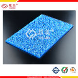 &2,5Mm 3mm Folha de policarbonato em relevo de bronze com revestimento UV para Telheiro telhas
