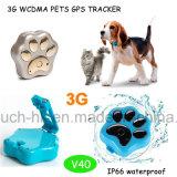 3G/WCDMA traqueur de l'animal familier GPS avec l'alarme imperméable à l'eau V40 d'IP66 et de Geo-Frontière de sécurité
