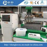 Vier Kopf-Hochgeschwindigkeitsholz 3D CNC-Fräser
