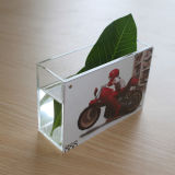 Изготовленный на заказ акриловая ваза с рамкой фотоего/акриловой вазой рамки сторон фотоего 4