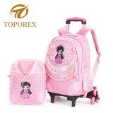 Bonitinha crianças mochila Trolley Escola destacável Saco Trolley para as crianças