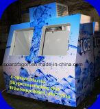 Merchandiser van het Ijs van China Fabrikant voor Diepvriezer van het Ijs van het Benzinestation de Gebruik In zakken gedane