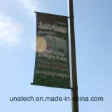 Столб Поляк улицы рекламируя оборудование вешалки кронштейна средств изображения плаката
