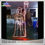 Lumière décorative 3D du motif DEL de rue de cornière extérieure de Noël