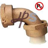 Libérer la ferrure de coude en bronze de mètre de fil de la norme d'Awwa