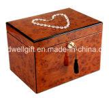 新しく贅沢で光沢度の高いピアノ終わりの木の宝石箱