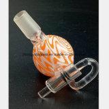 Rosafarbenes, grünes Glas-Rohr mit Titanzigaretten-Nagel-Huka-Rohr