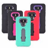 Comercio al por mayor Ultra-Slim caso Teléfono de silicona con soporte para LG G6