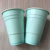 14oz 425ml 도매가 음식 급료 PP 플라스틱 빨강 로고를 가진 솔로 가정 당 컵