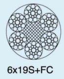 직류 전기를 통하는 6X19s+FC 강철과 Ungalvanized 철강선 밧줄