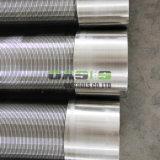 A tela de aço inoxidável 316L de água do tubo de fio de cunha de tela