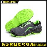 Semelle PU Daim chaussures de travail Chaussures de sécurité en cuir