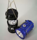 Lanterna de acampamento solar com luz de acampamento solar do painel solar e do carregador do USB