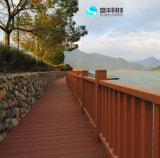 WPC que pavimenta o Decking de madeira anti-séptico para o uso ao ar livre no terraço