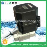 """soupape de l'eau motorisée par Ss304 de contrôle électrique de bille de Dn15 12V 24V de 1/2 """" avec le rupteur d'allumage"""