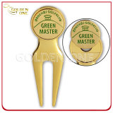 Custom Metal Magnetic Golf Repair Divot Tool com marcador de bola
