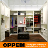 Oppein Modern Cream Matte Lacquer Walk in Closet Wardrobe (YG91519)