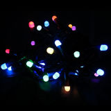 Cold White LED Rice String Light com efeito intermitente
