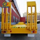 Heavy Duty Eje 2 neumáticos expuestos bajo Diseño de cama/Lowboy/Lowbed semi remolque