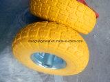 O plutônio do trole da mão espumou a roda 3.50-4 da prova da punctura