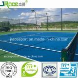 De langdurige Vloer die van de Sporten van het Tennis OpenluchtTennisbaan omvatten