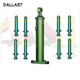 Pressão de médio curso de longa ação única do cilindro do pistão hidráulico