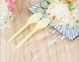Colheres plásticas descartáveis seguras protegidas ambiente para a sobremesa do iogurte congelado
