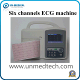 Portable Six Channels EKG Machine com tela de toque