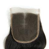 卸し売り人間の毛髪のレースの閉鎖のバージンの安いインドの毛の織り方の上の閉鎖