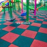 couvre-tapis en caoutchouc de tuile de couleur lumineuse de 1m*1m