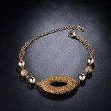 女性方法ブレスレットのイヤリング18Kの金の板状結晶の宝石類セット