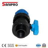 Синий цвет РР шаровой клапан для орошения