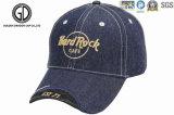 Gorra de béisbol de calidad superior del dril de algodón del rock duro con bordado de encargo