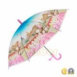 Прозрачный зонтик с пластичной ручкой обманщика, зонтик Poe прямой с свистком