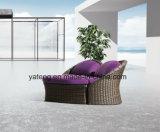 新しいデザインオットマン(YT895)が付いている快適な屋外の庭の家具の寝台兼用の長椅子及びラウンジのソファー