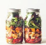 470ml de Kruik van het Glas van de Opslag van de salade met Uitstekend Ontwerp