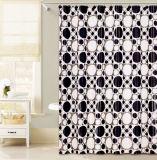 Черный и белый круг дизайн PEVA душ шторки для ванной комнаты