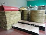 Mesa redonda plegable de madera contrachapada