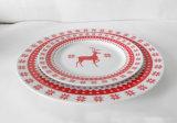 Arte Paper-Cut Ciervo Christamas copo de nieve 2 piezas Conjunto de vajilla