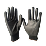 черный PU 13G покрыл сделанные перчатки в Shandong