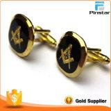 Manschettenknopf-Manschette-Links Pinstar Fabrik-Großverkauf-Qualitäts-der Freimaurerfreimaurer-Männer Gold