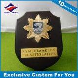 HK Souvenir Casting Plaque en métal Plaque en bois OEM Awards Shield