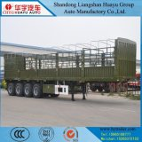 Cheval/boeufs/vache/frontière de sécurité transport de bétail/moutons/porc/de pieu remorque semi