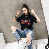 快適なカスタム綿によって印刷されるTシャツ中国製